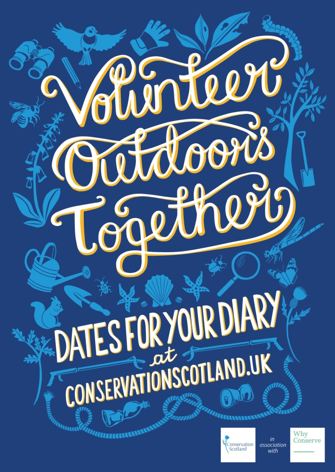 PRESS RELEASE: New website publishes one year of free nature conservation opportunities in Scotland